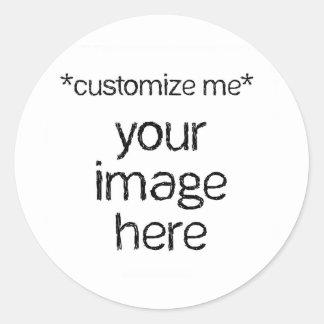 Modifique su propio diseño para requisitos etiquetas redondas