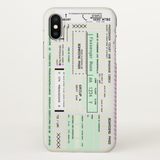 Modify This Airline Boarding Pass iPhone X Case
