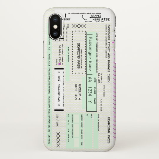 Modify This Airline Boarding Pass Iphone Case Zazzle Com