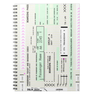 Modify this Airline Boarding Pass Notebook