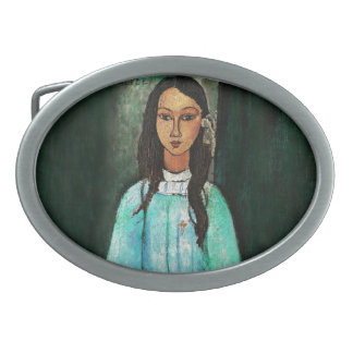 Modigliani Alice Vintage Fine Art Painting Belt Buckle