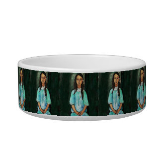 Modigliani Alice Vintage Fine Art Painting Bowl