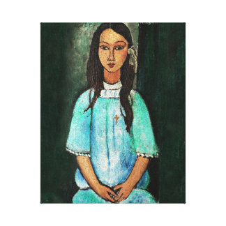 Modigliani Alice Vintage Fine Art Painting Canvas Print