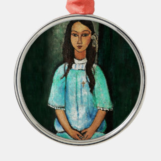 Modigliani Alice Vintage Fine Art Painting Metal Ornament