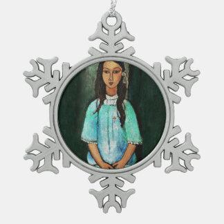 Modigliani Alice Vintage Fine Art Painting Ornament