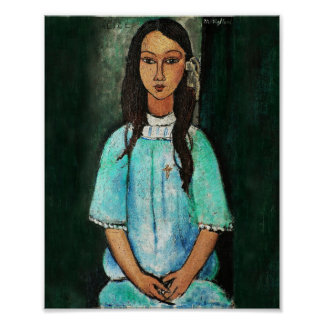 Modigliani Alice Vintage Fine Art Painting Posters