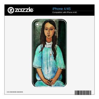 Modigliani Alice Vintage Fine Art Painting iPhone 4 Skins