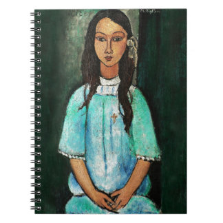 Modigliani Alice Vintage Fine Art Painting Spiral Notebook