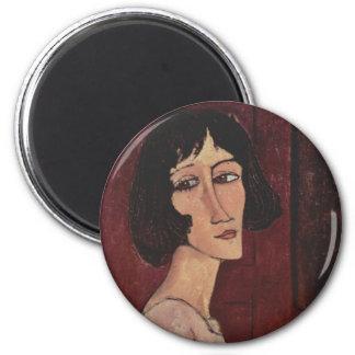 Modigliani Amedeo Portrait 2 Inch Round Magnet