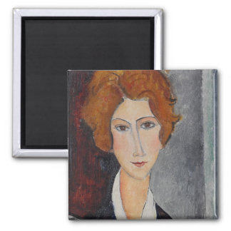 Modigliani Amedeo Portrait 2 Inch Square Magnet
