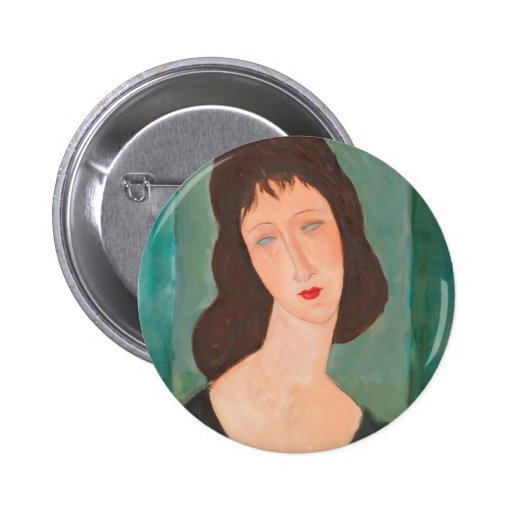 Modigliani Amedeo Portrait Button