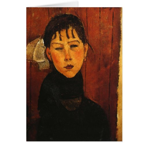 Modigliani Amedeo Portrait Card