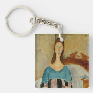 Modigliani Amedeo Portrait Keychain
