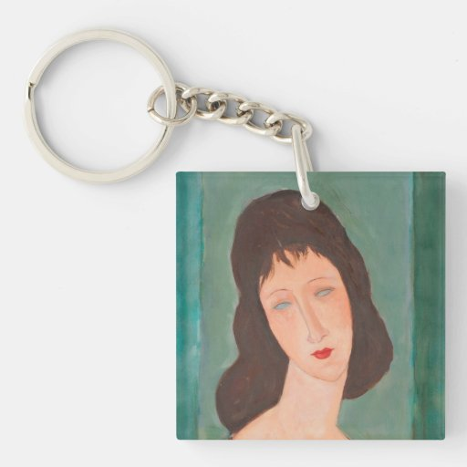 Modigliani Amedeo Portrait Square Acrylic Key Chain