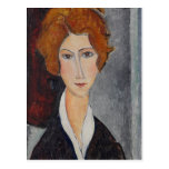 Modigliani Amedeo Portrait Postcard