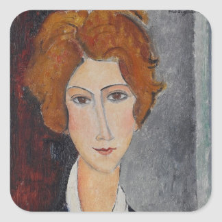 Modigliani Amedeo Portrait Square Sticker