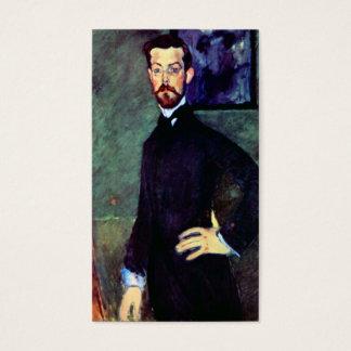 Modigliani art portrait painting Paul Alexanders Business Card
