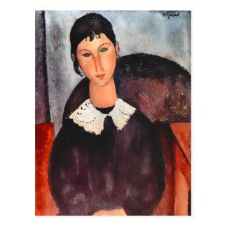Modigliani Elvira con la postal no manual