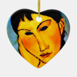 modigliani elvira-resting-at-a-table ceramic ornament