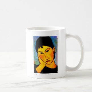 modigliani elvira-resting-at-a-table coffee mug
