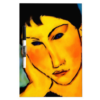 modigliani elvira-resting-at-a-table Dry-Erase whiteboard