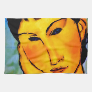 modigliani elvira-resting-at-a-table hand towels