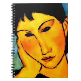 modigliani elvira-resting-at-a-table notebook