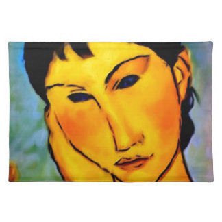 modigliani elvira-resting-at-a-table place mat