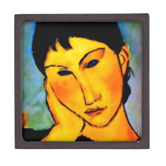 modigliani elvira-resting-at-a-table premium trinket boxes