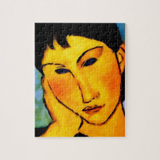 modigliani elvira-resting-at-a-table puzzles
