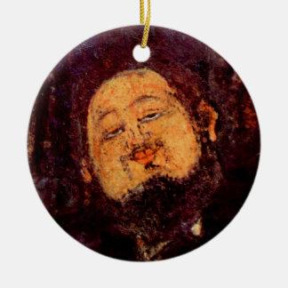 Modigliani portrait painting artist Diego Rivera Christmas Tree Ornaments