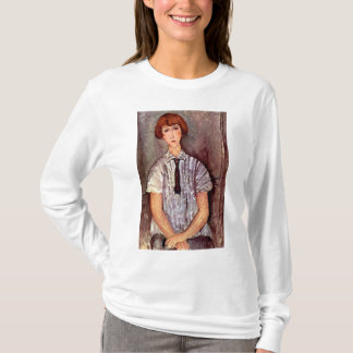 Modigliani portrait Young Girl in Striped Blouse T-Shirt