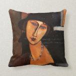 Modigliani - retrato de la almohada de Jeanne Hebu