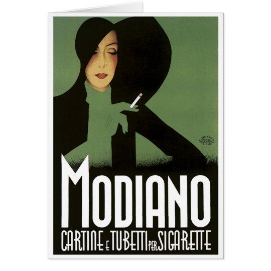 MODIGLIANO Vintage Cigarrette Art Poster print Card