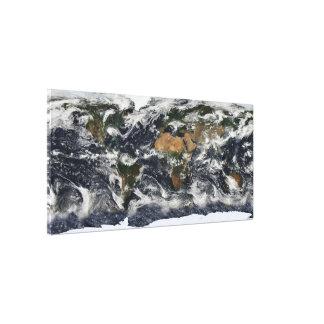 MODIS World Map Canvas Print