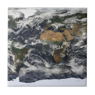 MODIS World Map Ceramic Tile