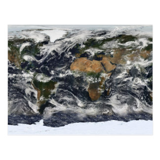 MODIS World Map Postcard
