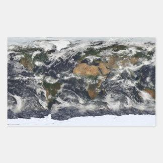 MODIS World Map Rectangular Sticker