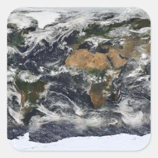 MODIS World Map Square Sticker