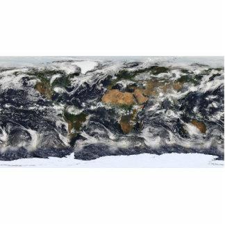 MODIS World Map Statuette