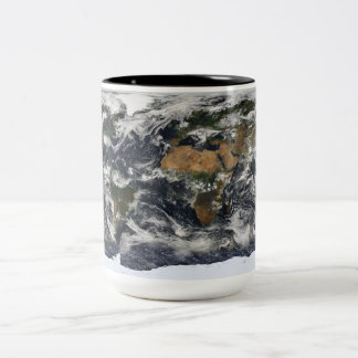 MODIS World Map Two-Tone Coffee Mug