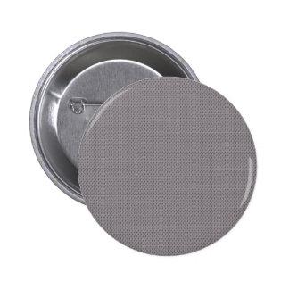Modish light grey leafs on retro purple background pinback button