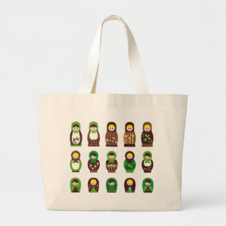 ModMatryoshka1 Large Tote Bag