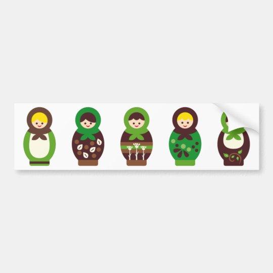 ModMatryoshka3 Bumper Sticker