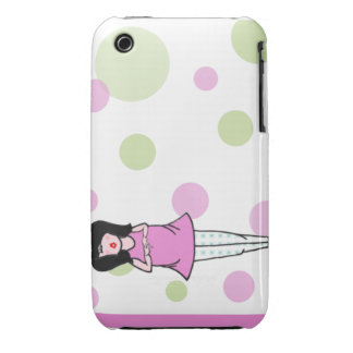 ModMom Pink Green Dots Samsung Galaxy Case iPhone 3 Cases