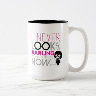 Modo de Edna - nunca miro detrás Taza De Café De Dos Colores