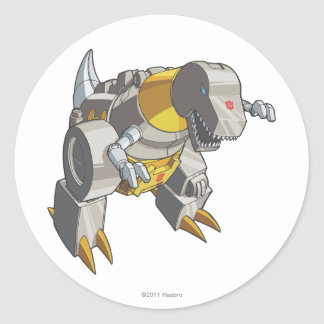 Modo de Grimlock Dino Etiqueta Redonda