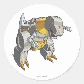 Modo de Grimlock Dino Pegatina Redonda