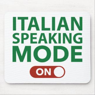 Modo de lengua italiana encendido tapetes de raton