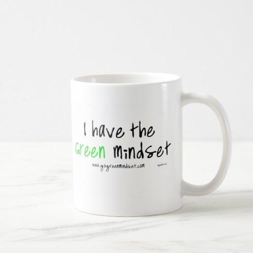 Modo de pensar verde tazas